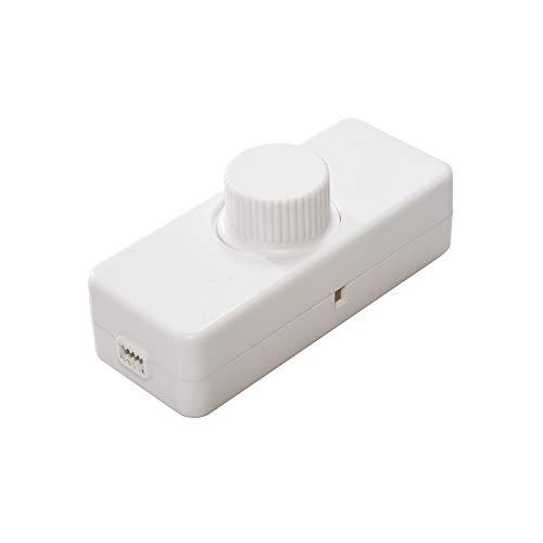 TREMELEC Atenuador de cables LED en línea con regulador de intensidad de luz de borde trasero 220-240 V 3-100 W LED (blanco)