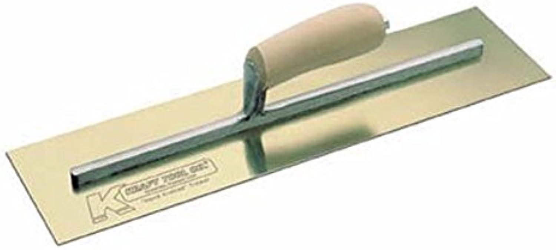 Kraft Werkzeug cf533 Edelstahl Golden Zement Maurerkelle mit kamelrücken Holz Griff, 16 x 4-Zoll B00TBKMV0W   Lebendige Form