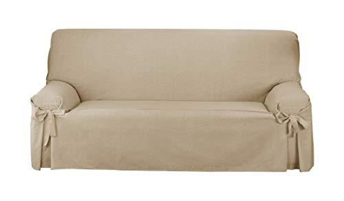 Martina Home Funda de sofá Lazos Turia 3 Plazas Camel