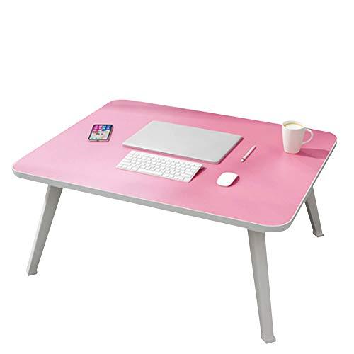 Verstelbare Opvouwbaar Laptop Bureau, nachtkastje Ergonomische Computer Notebook Bureau voor Sofa/Terras/Floor,Pink