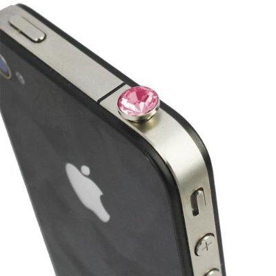 itronik® Kristall Crystal 3.5mm Staubdichter Kopfhörer Stecker Ohrhörer Stöpsel für Apple iPhone 4 4S iPod iPad und alle Geräte mit 3,5mm Klinkenbuchse Staub Schutz Kappe Pink