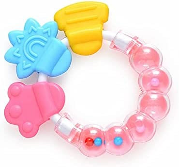 YOUMIYH Large discharge sale Cute Baby Rattle Silicone Teether Bab Sales results No. 1 Round