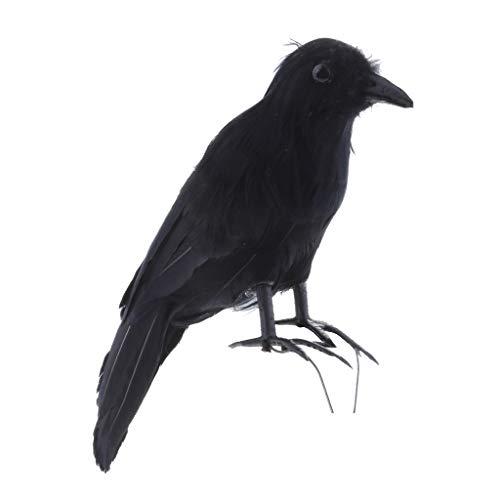 Homyl Krähe Lockvogel Vogelschreck Gartenfigur