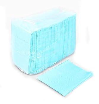Dragon Art 125 Pack 13  x 18  inches Dental Bibs/Lap Cloths for Tattoo Dentist or Piercings  Light Blue