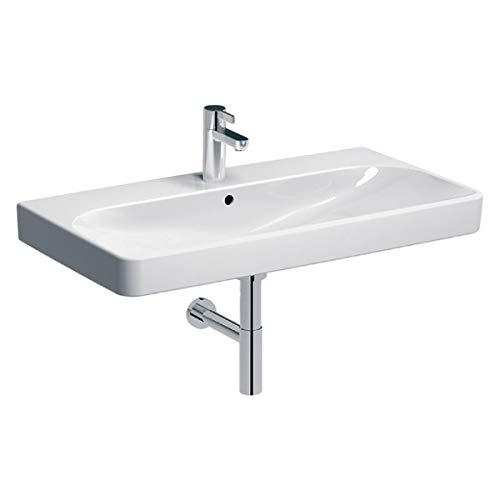 Keramag Geberit Smyle Square Waschtisch 500251, 90x48cm, mit Hahnloch und Überlauf, Farbe: Weiß