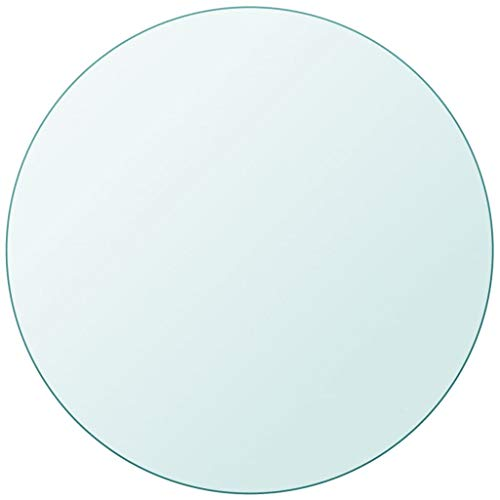 """Unfade Memory High Strength Tabletop Tempered Glass/Thickness 0.3""""/ Flat Polish Eased Edge (11.8"""", Round)"""