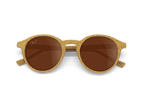Okulars® Oak - Occhiali da Sole in Sughero Naturale, Ultra-leggeri, Uomo e Donna - Lenti Anti-Graffio Polarizzate UV400 - Peso 13 grammi - Taglia Unica (Marrone)