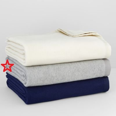 Buy Bargain Hudson Park 100% Wool Twin blanket 66 x 90 - Gray