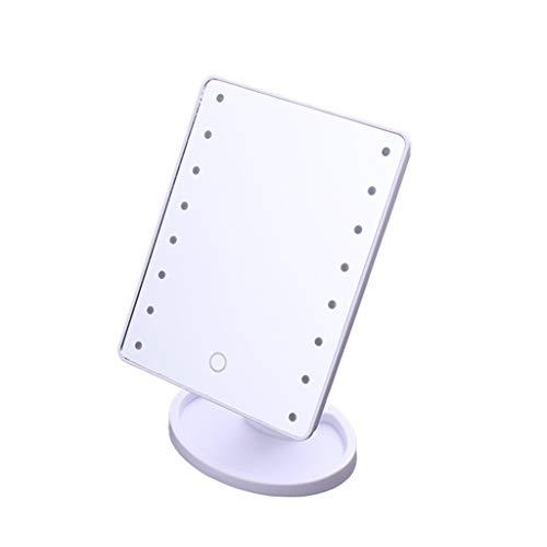 Decorative mirror-QFF Maquillaje espejo vertical, 16LED resplandor de belleza Espejo sitio del dormitorio dormitorio de la luz de longitud completa Espejo 360 ° de la vuelta del rectángulo espejo de b