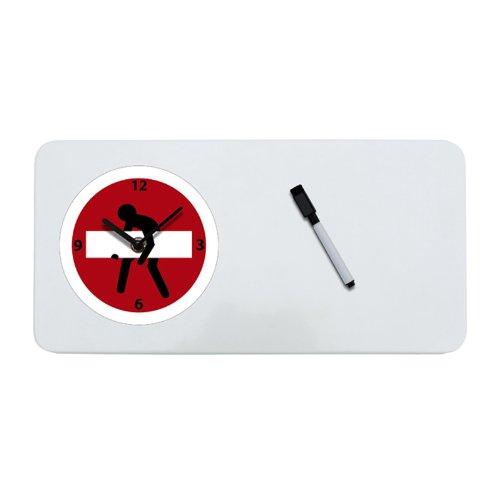 Memoboard inkl. Uhr Wanduhr Magnettafel Memo inkl. Stift 40 x 20 cm