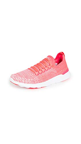 APL: Athletic Propulsion Labs Women's Techloom Breeze Sneakers, Magenta/Plaster/Ombre, White, Pink, 8 Medium US