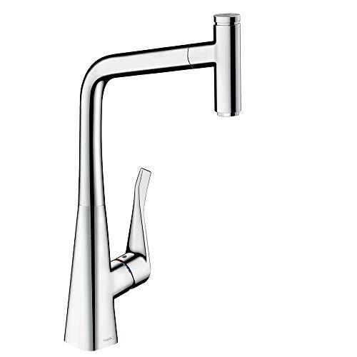 Hansgrohe 14884000 Metris Select keukenkraan met één hendel (comfort-hoogte 320 mm met uittrekbare uitloop) chroom