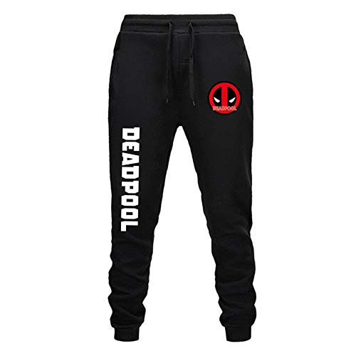 Oowjj Herren Sporthosen Cartoon Anime Jogginghosen Track Pants Freizeithosen Sweat Pants Lange Trainingshose Fitness Sport Deadpool