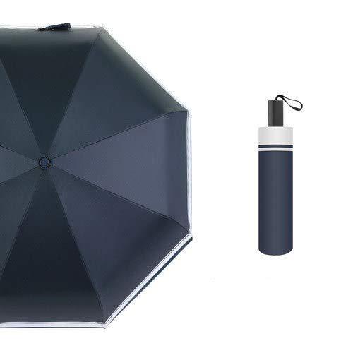 ZWWZ Nordic Folding Frauen Manuelle Umbrella Männer und japanischen Dual-Use-Regen und Regen Praktische Regenschirm Mini, Handbuch HAIKE
