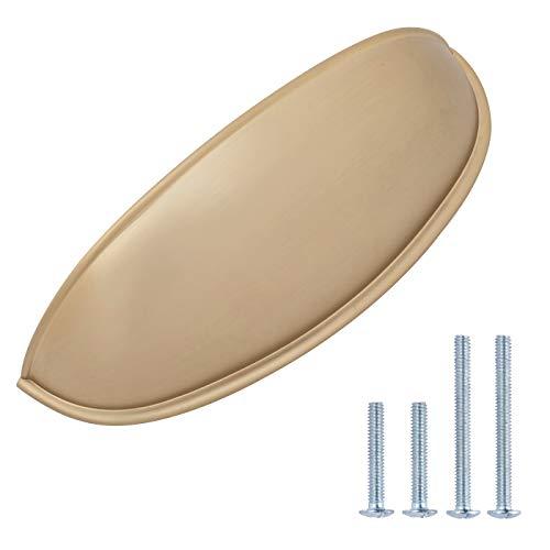 Amazon Basics - Tirador de armario, 10,5 cm de longitud (7,62 cm centro del agujero), color dorado champán, AB1800-GC-10