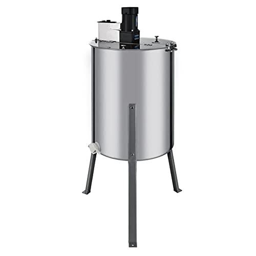 Extractor Eléctrico de Miel Separador de 4 Cuadros de Colmenas de Acero Inoxidable con Soporte Equipo Extractor de Abejas   140W 220V