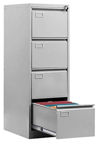 Archivadores Archivo Gabinete Programa Vertical Vertical Tipo de piso Armario 4 Cajón Archivo Almacenamiento Caja de almacenamiento de acero con bloqueo Necesidad de ensamblar Rack de archivos móviles