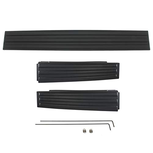 IAMAUTO 12817 Tailgate Flex Flexible Step Protector Trim Molding Cap 3 Piece Kit For 2009 2010 2011 2012 2013 2014 Ford F150