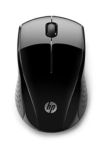 HP Mouse 220 Wireless, Tecnologia LED Blu, Sensore Ottico da 1300 DPI, 3 Pulsanti e Rotella di Scorrimento Integrata, Impugnature Pratiche e Funzionali, Ricevitore Nano Incluso, Design Moderno
