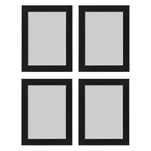 Ikea Fiskbo Bilderrahmen, 13 x 18 cm, schwarz, 4 Stück, Pappe, Faserplatte, Folie, Polystyrol-Kunststoff, Acrylfarbe, Schwarz , 13x18cm