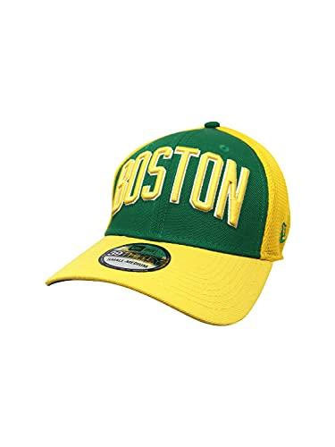 New Era Boston Celtics Hat, Cap 39Thirty Flex Fitted Color Flip 21039554 Yellow/Green (Medium/Large)
