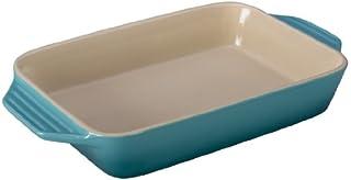 "Le Creuset Stoneware Rectangular Dish, 3.15 qt. (12.5"" x 8.25""), Caribbean"