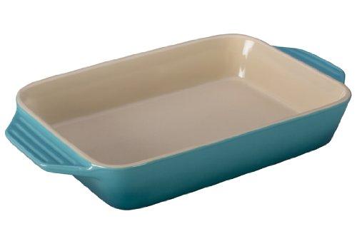 Le Creuset Stoneware Rectangular Dish, 3.15 qt. (12.5' x 8.25'), Caribbean