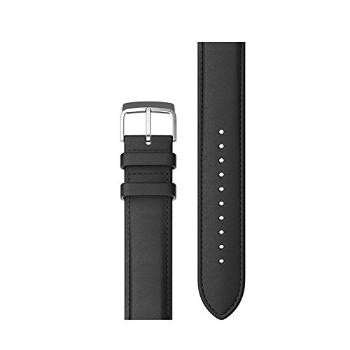 Ticwatch E Ticwatch 2 Leather Watch Band Accessory Watch Strap for Ticwatch 2 Ticwatch E Stylish 20mm (Black)