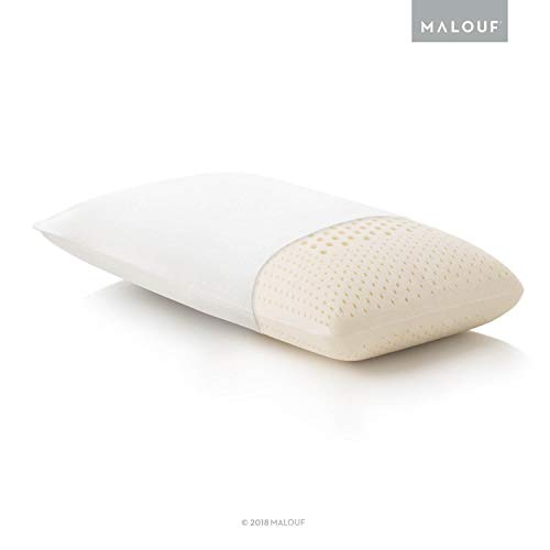 MALOUF Z 100% Natural Talalay Latex Zoned Pillow - Queen - High Loft,...