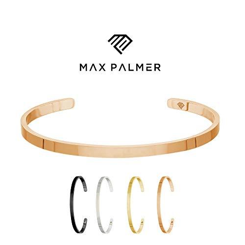 Max Palmer | subtiele armband/stijlvolle roestvrij stalen armband | zilver, zwart, goud of roségoud | dames, heren, kinderen | bedel/armband | bangle