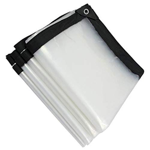 QI-CHE-YI Regendicht Tuch wasserdichte Planen transparentes Plastiktuch, Geeignet für Gewächshäuser Film, Kunststoffabdeckung, Unkraut Barrier, Etc,4x4m