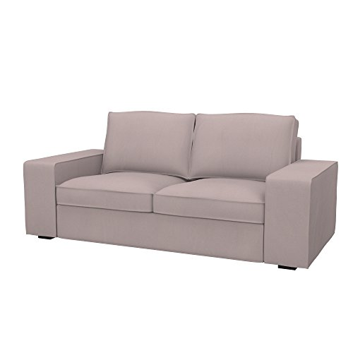Soferia Bezug fur IKEA KIVIK 2er-Sofa, Stoff Eco Leather Taupe