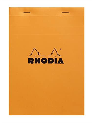 Rhodia–Cuaderno de gigante libreta grapada, color naranja