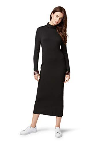 TOM TAILOR für Frauen Kleider & Jumpsuits Geripptes Strickkleid Black, 40