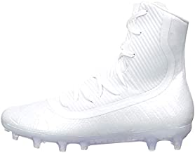 Under Armour Men's Highlight MC Football Shoe, White (101)/White, 8