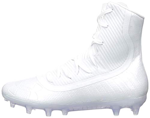 Under Armour Men's Highlight MC Football Shoe, White (101)/White, 9