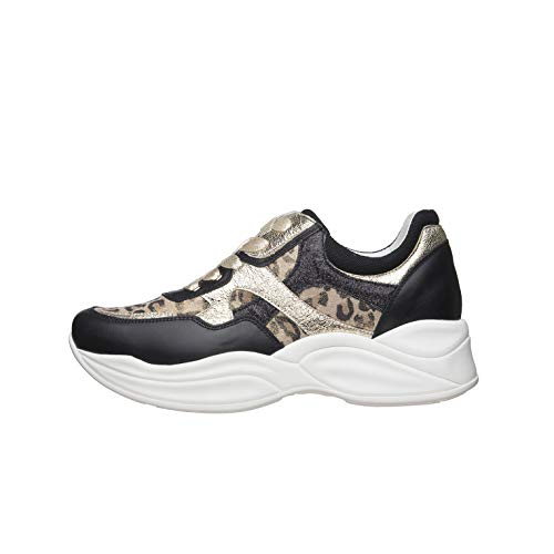 NeroGiardini E010594D Sneakers Donna in Pelle E Tela - Nero 36 EU