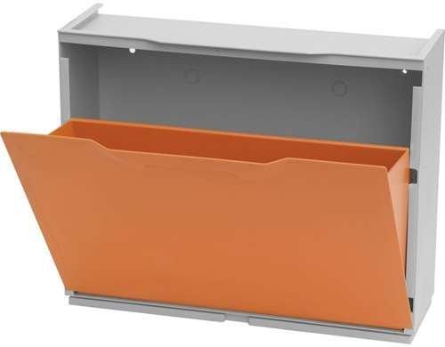 Zapatero Apilable Mod. UNIKA Modular, Plástico, Color Naranja