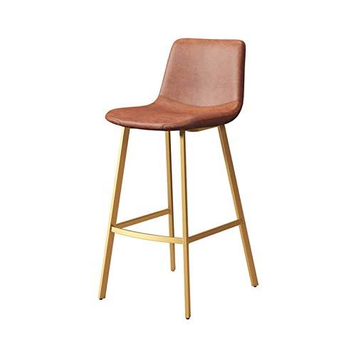 HFVDA Silla de la silla de vestuario Desayuno para el reposapiés Barstool Faux Cojín de cuero Cojín Sillas de comedor para la cafetería Taburete de la barra de la cocina.Cargar 200 kg de patas de meta
