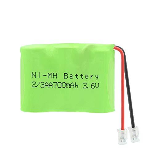 hsvgjsfa 3.6v 700mah 2 / 3aa Batería Recargable Ni-Mh Grupo Conectores Universales 700mah Batería Recargable Nimh 3 * 2 / 3aa Celdas 4pcs
