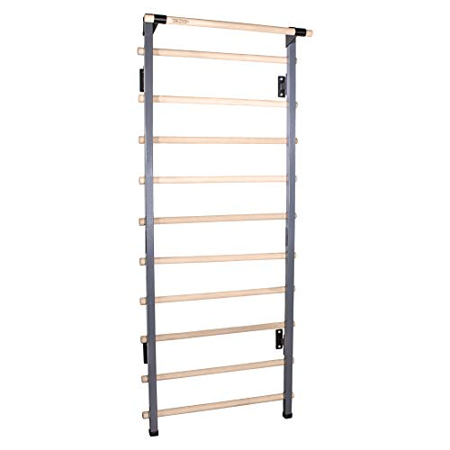 Vita Vibe - CORE Series 36' Wide Adjustable Stall Bars (Swedish Bars) - 74'-90' Tall (with Chin-Up Bar)