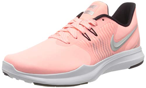 Nike Women's Damen Fitnessschuh in-Season Tr 8 Fitness Shoes, Pink (Pink Tint/Metallic Silver-Burgundy 600), 7.5 UK