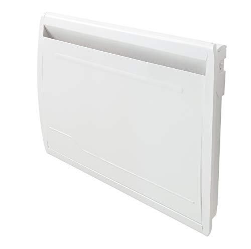 Deltacalor - Radiador eléctrico delicado de 1500 W – Radiador eléctrico WiFi – Resistencia a la suciedad seca de piedra natural – Programación semanal – Habitaciones de hasta 18 m², blanco