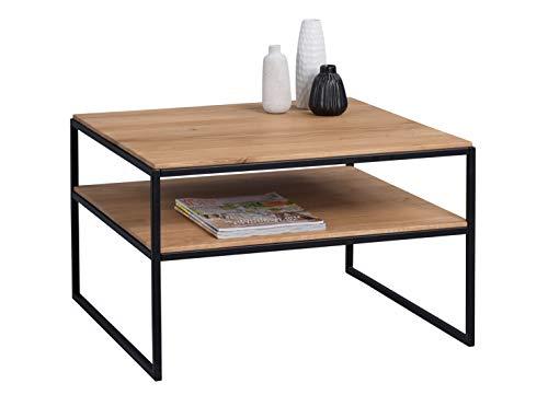 HomeTrends4You Mika 1 salontafel/bijzettafel, hout, bruin, lengte, breedte 65 cm, hoogte 45 cm