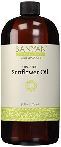 Buy Bargain Banyan Botanicals Sunflower Oil - USDA Organic, 34 oz- Traditional Ayurvedic Oil for Mas...