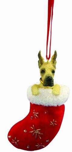 EundS Pets Dogge Weihnachtsstrumpf mit Santa's Little Pals handbemalt & genäht