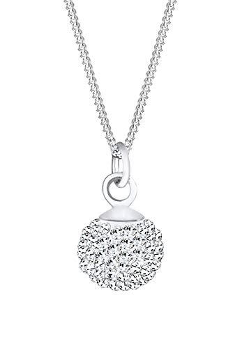 Elli Halskette Elli Damen Halskette Kugel Klassisch mit Kristallen in 925 Sterling Silber