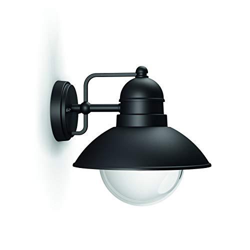 Philips myGarden Hoverfly aplique, E27, IP44, iluminación exterior, resistente a la humedad y la intemperie, negro