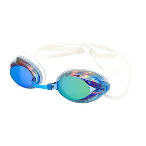 Adulto Hermoso Práctico No Tóxico Sin Tóxico Impermeable Anti-Niebla Colorido Guapo Durable Gafas De Natación (Color : Sky Blue, Size : One Size)