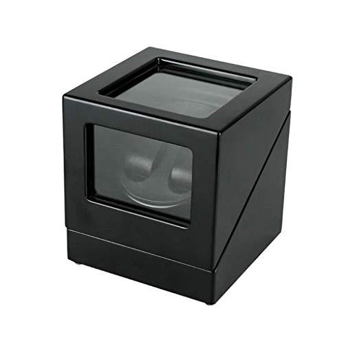 ADSE Aufbewahrungsbox, Uhr Display Box Pendeltisch Shaker Motor Plattenspieler Schmuck Aufbewahrungsbox Tischrahmen Uhr Aufbewahrungsbox für Herren und Damen (Farbe: Schwarz)